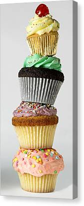 Iced Cupcakes Canvas Print by Tony Mcconnell