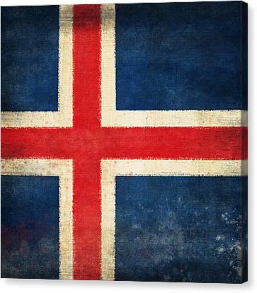 Iceland Flag Canvas Print by Setsiri Silapasuwanchai