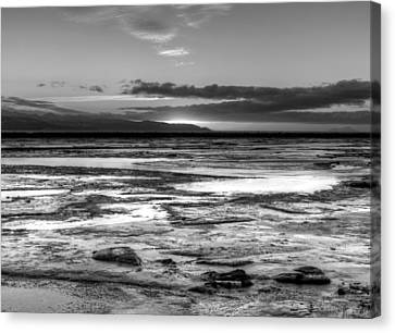 Icy Bay At Sunset Canvas Print by Michele Cornelius