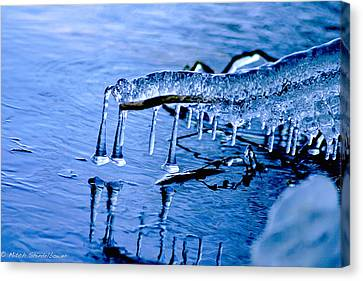 Canvas Print featuring the photograph Icy Reflections by Mitch Shindelbower