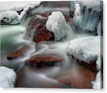 Icy River Canvas Print by Haakon Nygård