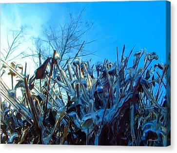 Canvas Print featuring the digital art Icy Shell by Dennis Lundell