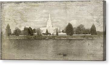 Idaho Falls Temple  Canvas Print