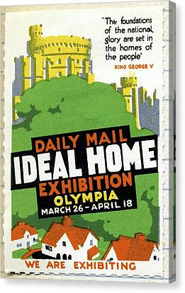 Ideal Home Exhibition Stamp, 1920 Canvas Print