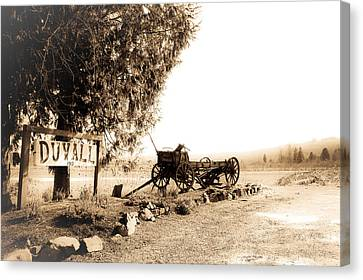 Idle Wagon Canvas Print by Lynn Wohlers