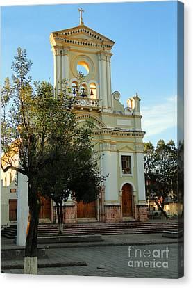 Iglesia De Fatima Canvas Print by Al Bourassa