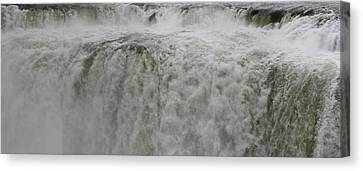 Canvas Print featuring the photograph Iguazu Close Up by Andrei Fried