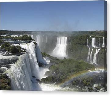 Canvas Print featuring the photograph Iguazu Falls by David Gleeson