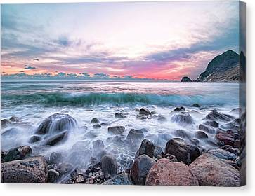 Clouds Over Sea Canvas Print - Ihama Shore At Minamiizu by Tommy Tsutsui