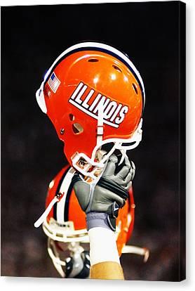 Illinois Football Helmet  Canvas Print