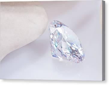 Illuminate Diamond Canvas Print by Atiketta Sangasaeng