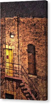 Illuminating Darkness And What's Underneath Canvas Print by Janie Johnson