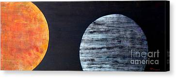 Canvas Print featuring the painting Illumination by Barbara Moignard