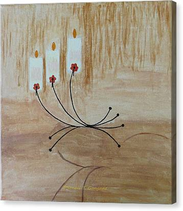 Canvas Print featuring the painting Illumination by Sonali Gangane