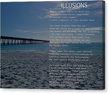 Illusions Poem Canvas Print by Debra     Vatalaro