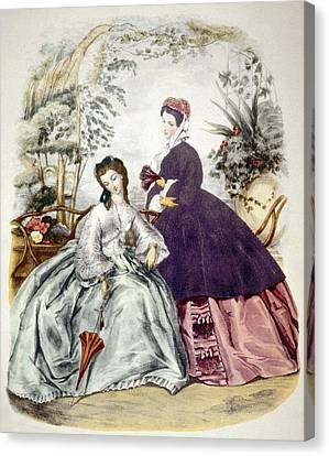 Illustration Of 19th Century Fashions Canvas Print by Everett