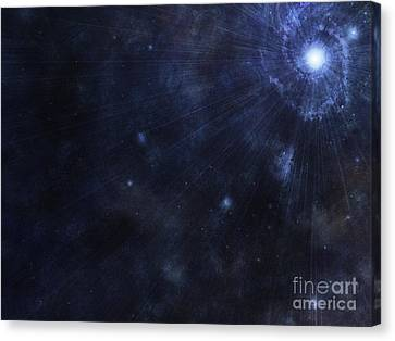 Illustration Of A Bright Star In Outer Canvas Print by Vlad Gerasimov