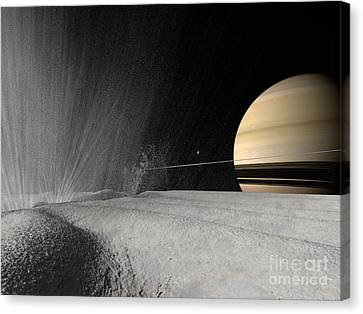 Illustration Of A Geyser Erupting Canvas Print by Walter Myers