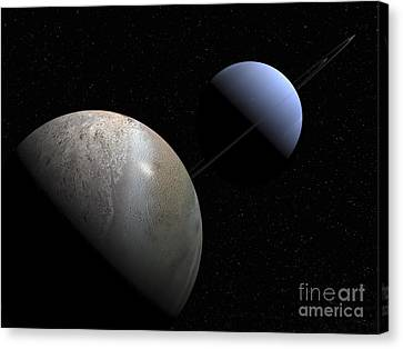 Illustration Of The Gas Giant Planet Canvas Print by Walter Myers