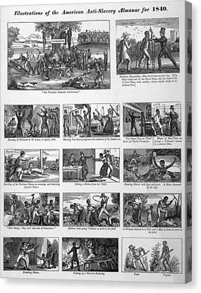 Antislavery Canvas Print - Illustrations Of The Antislavery by Everett