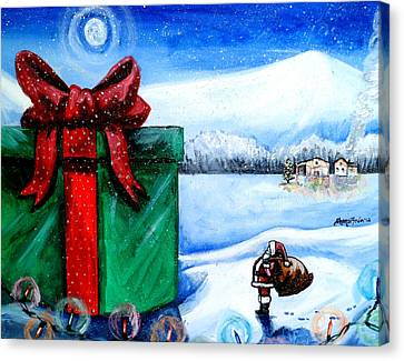 I'm Going To Need A Bigger Sleigh Canvas Print by Shana Rowe Jackson