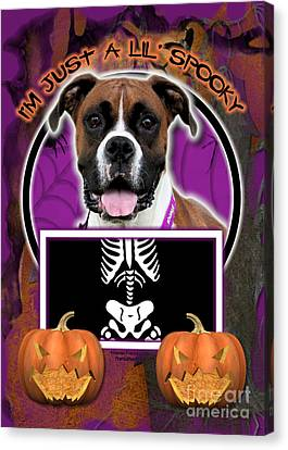I'm Just A Lil' Spooky Boxer Canvas Print by Renae Laughner