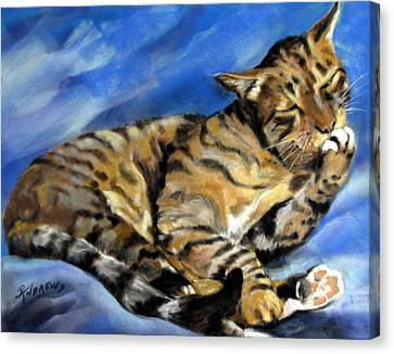 Canvas Print featuring the painting Im Not Hard Of Hearing I Am Ignoring You by Rae Andrews