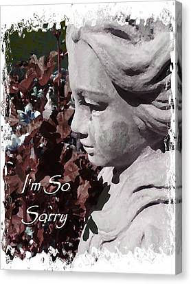 I'm So Sorry Angel Card Canvas Print