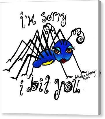 I'm Sorry I Bit You Canvas Print