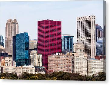 Image Of Downtown Chicago City Office Buildings Canvas Print