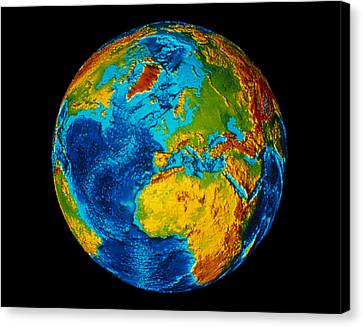 Image Of Earth Generated By Computer Graphics Canvas Print by Stocktrek