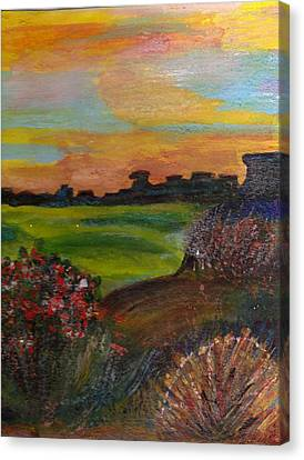 Imaginary View Of Golf Course Canvas Print by Anne-Elizabeth Whiteway