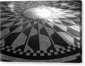 Imagine In Black And White Canvas Print by Rob Hans