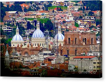 Immaculate Conception Domes II Canvas Print by Al Bourassa