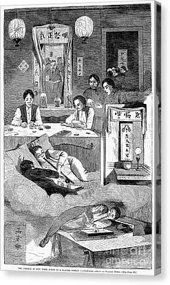 Immigrants: Chinese, 1874 Canvas Print by Granger