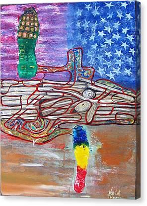 Immigration Step Canvas Print by Adriana Vasilut