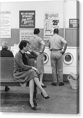 Impatient Washers Canvas Print by Winfield J. Parks Jr.
