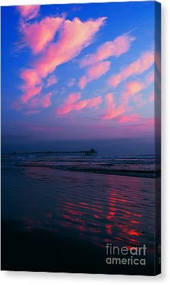Imperial Beach At Dusk Canvas Print by Sabino Cruz