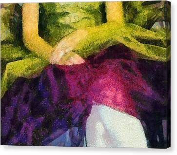 Impression Of A Ballerina Lap Canvas Print by Angelina Vick