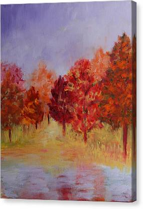 Impression Of Fall Canvas Print by Karin Eisermann