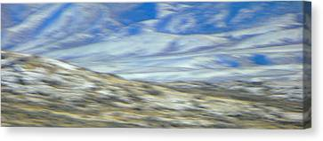 Impression Of Wyoming Canvas Print by Lenore Senior
