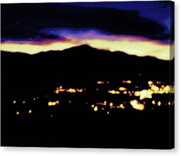 Canvas Print featuring the photograph Impressionistic Pikes Peak by Clarice  Lakota