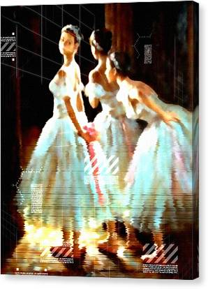 Ballet Canvas Print - Impressions Of Modern Ballet by Georgiana Romanovna