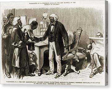 In 1877 Frederick Douglass 1818�1895 Canvas Print by Everett