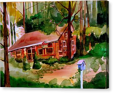 In A Cottage In The Woods Canvas Print by Mindy Newman
