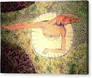 In A Garden - Dans Un Jardin Canvas Print