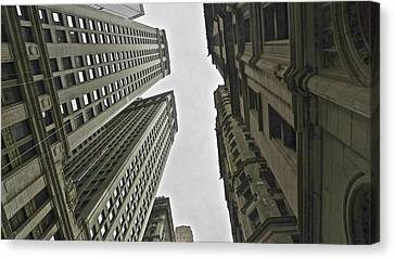 In Between Skyscrapes Canvas Print by Malin Andersson