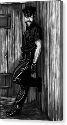 In Dark Alleys Canvas Print by Brent  Marr