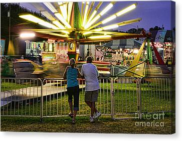 In Love At The Fair Canvas Print by Paul Ward