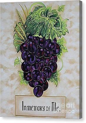 In Memory Of Me Canvas Print by Kimberlee  Ketterman Edgar